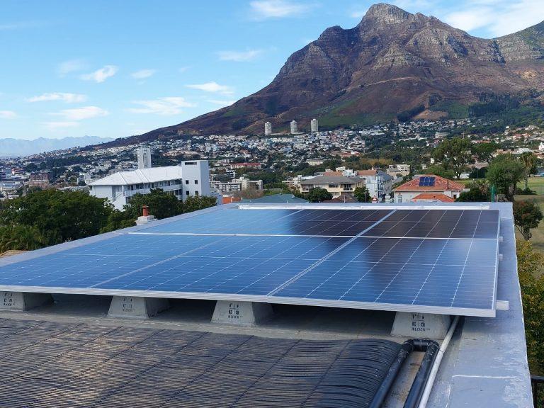 Solar Panel Installation on rooftop